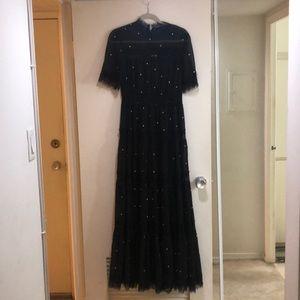 Anthropologie Polka Dot Maxi Dress